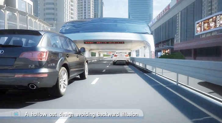 Высота 4,5 м., ширина 6 м., легковые автомобили могут проезжать внутри автомобилей непосредственно под ней