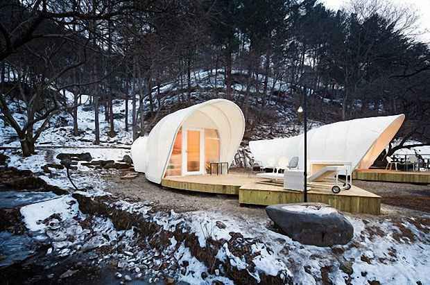 Стены палатки сделаны из особой мембраны