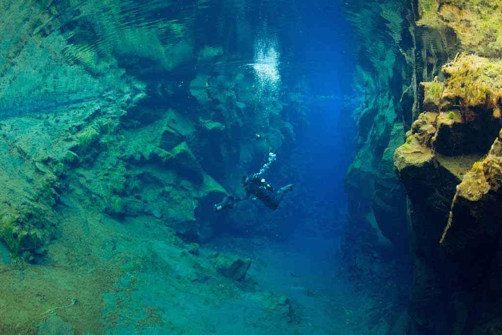 Видимость в воде Силфры до 300 метров