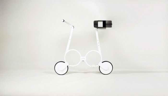 В дизайне велосипеда преобладают круглые формы
