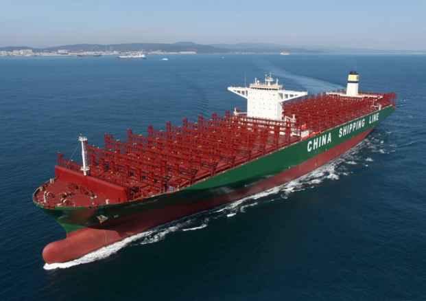 CSCL Globe самый большой контейнеровоз на планете