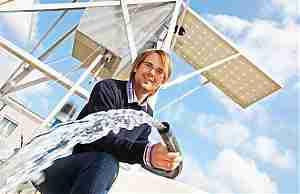 Водяной насос на солнечных батареях NSP Solar Pump