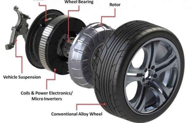 Конструкция мотор-колеса Protean Electric