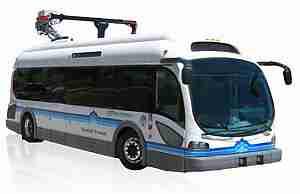 Электро автобус Proterra на подзарядке