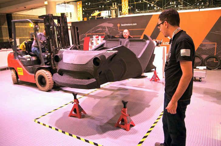 Напечатанный на 3D принтере кузов автомобиля Strati