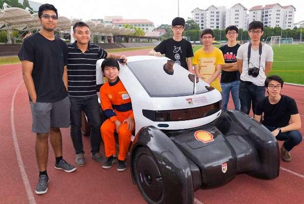 Группа студентов из Наньянского технологического университета