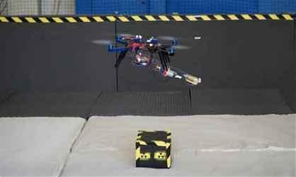 Летающий робот квадрокоптер